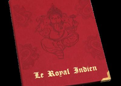 Carte menu indien